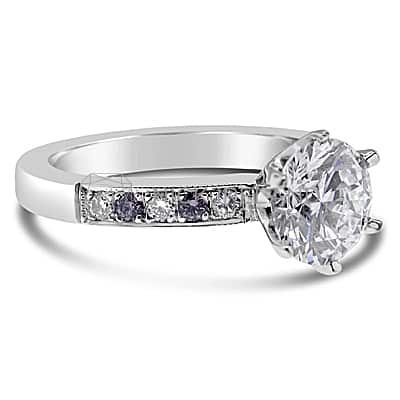 TDR6/ PLATINUM DIAMOND ENGAGEMENT RING