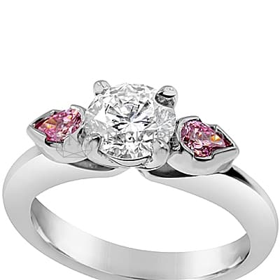 DJSP11/ 18CT WHITE GOLD ENGAGEMENT RING WITH ARGYLE PINK DIAMONDS