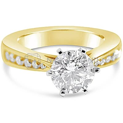 TDR24/ 18CT YELLOW GOLD DIAMOND SOLITAIRE ENGAGEMENT RING